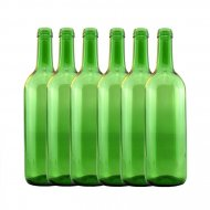 Clear & Green Wine Bottles for Home Brewing 750ml