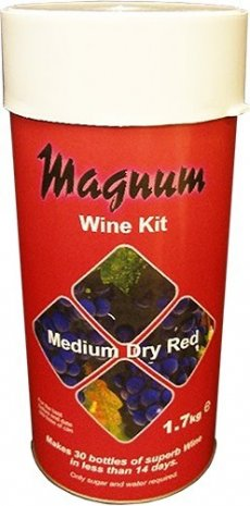 Medium Dry Red - Magnum Home Making Wine  Making Kit