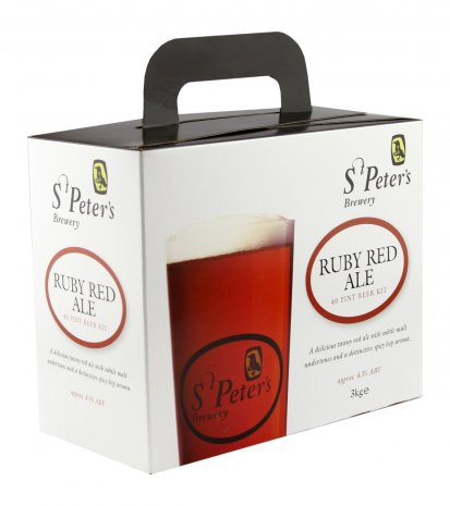 St Peter's Ruby Red Ale 40pt Beer Brewing Kit