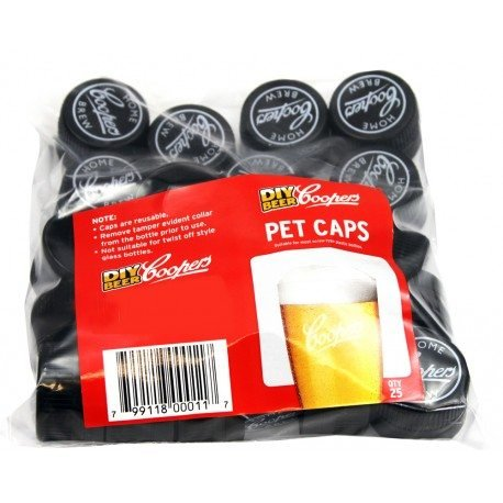 Coopers Spare PET Bottle Caps (25)