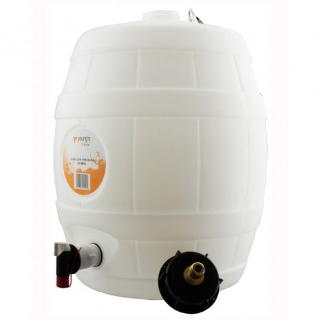 5 G/25L Food Grade Plastic Home Brew Barrel with 2in neck and tap at the bottom