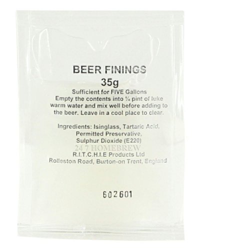 Ritchies Beer Finings Sachet 35g Treat 23L