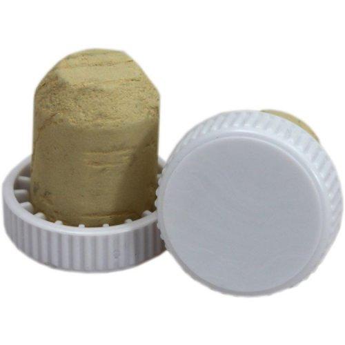 Cork White Plastic Flanged: Single