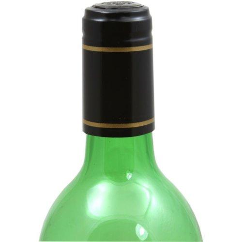 Heat Shrink Capsules/Wraps for Wine Bottles in Various Colours: 30 Black & Goldshrink capsules
